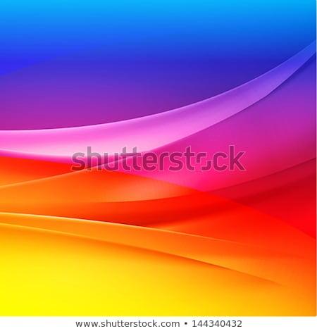 streszczenie · tęczy · kolor · linie · fale · komunikacji - zdjęcia stock © maxmitzu