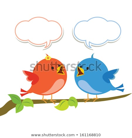 Twitter bird vector singing Stock photo © Luppload