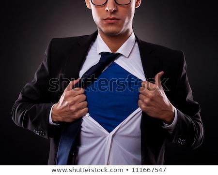表示 · スーパー · ビジネスマン · 小さな · オフ · シャツ - ストックフォト © oly5