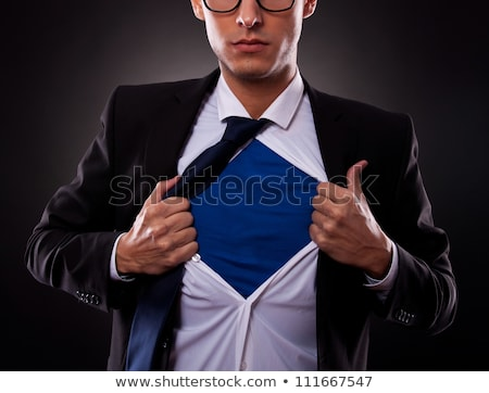 zakenman · af · shirt · business · handen · achtergrond - stockfoto © oly5