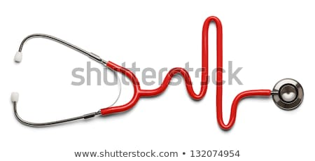 Stethoscope EKG healthcare symbol Stock photo © Lightsource