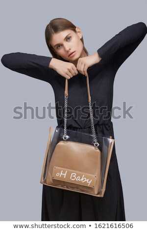 Grey handbag with studs Stock photo © Supertrooper