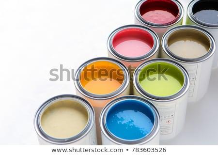színes · festék · munka · fekete · nyomtatás · stúdió - stock fotó © dacasdo