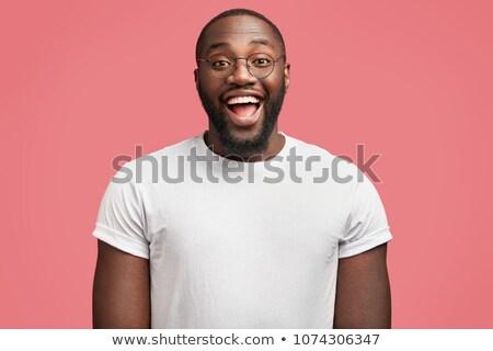Attrattivo adulto uomo occhiali nero shirt Foto d'archivio © juniart
