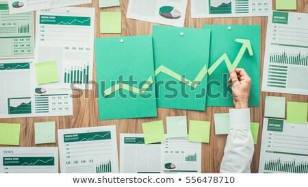zielone · strategii · wykres · wykres · wzrostu · planowania - zdjęcia stock © 4designersart