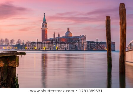 View of San Giorgio maggiore with gondolas Stock photo © vwalakte