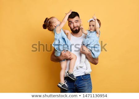 Conflict with father and his daughter Stock photo © doupix