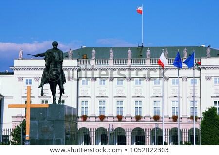 Presidencial palácio Varsóvia Polônia retro vintage Foto stock © photocreo