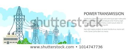poder · torres · pôr · do · sol · céu · construção · fundo - foto stock © kawing921