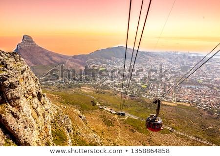 kábel · autó · állomás · felső · asztal · hegy - stock fotó © bradleyvdw