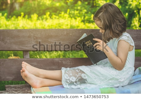 Side view of Jesus Christ sitting Stock photo © zzve