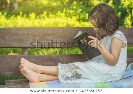 Yandan görünüş İsa Mesih oturma adam sanat Stok fotoğraf © zzve
