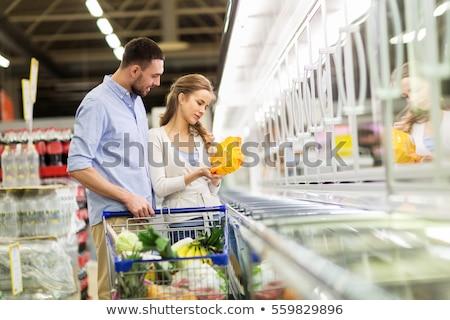 男 · 買い · 新鮮な · 肉 · 食品 · 幸せ - ストックフォト © hasloo