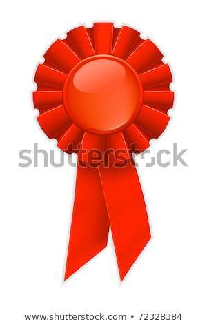 First place red ribbon, bitmap copy Stock photo © shutswis