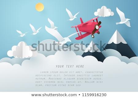 Stok fotoğraf: Bulutlar · gökyüzü · kuşlar · vektör · yağmurlu · sevmek