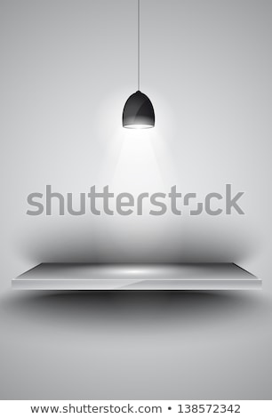 Shelf with 3 spotlights lamp with directional lights Stock photo © DavidArts