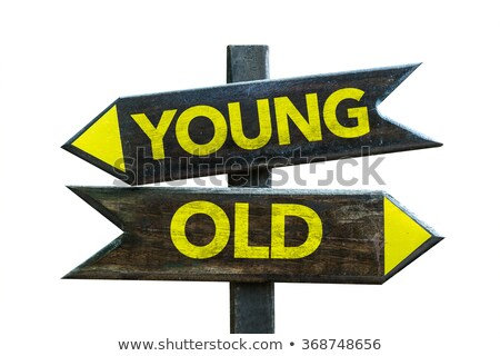 Jonge oude tegenover borden twee blauwe hemel Stockfoto © stevanovicigor
