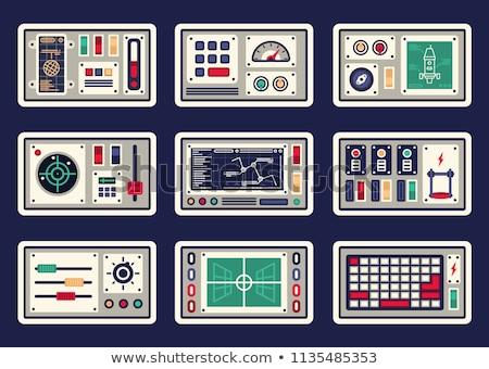 kontrol · paneli · modern · makine · kırmızı · acil · durum · durdurmak - stok fotoğraf © hochwander