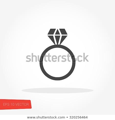 diamond engagement ring vector buttons set stock photo © redkoala