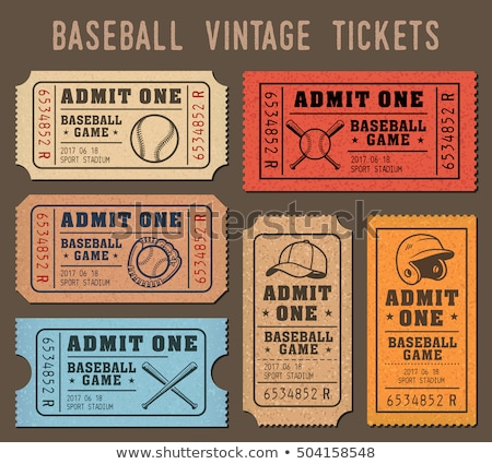 vintage baseball set stock photo © hofmeester