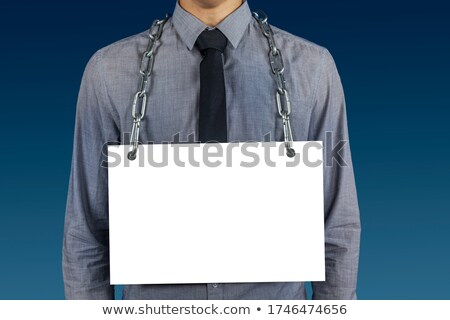 Desperate man with a chain around his neck Stock photo © Discovod