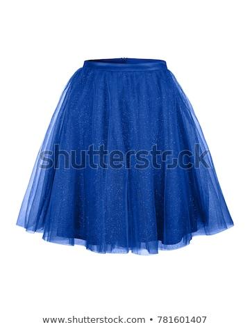 Mavi güzel genç Japon kadın kız Stok fotoğraf © disorderly