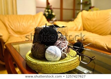 Renkli iplik gri koltuk Stok fotoğraf © dashapetrenko