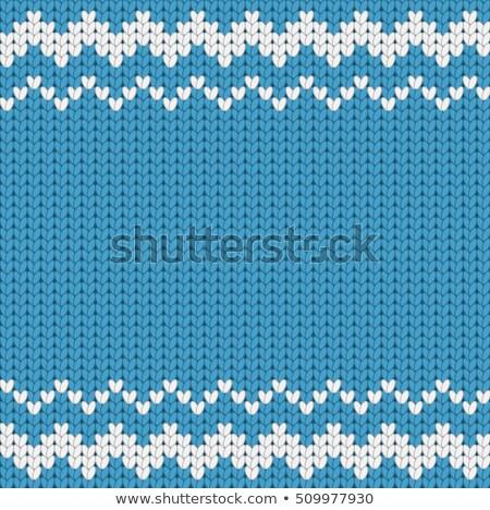 Azul crochê padrão textura comida moda Foto stock © Ustofre9