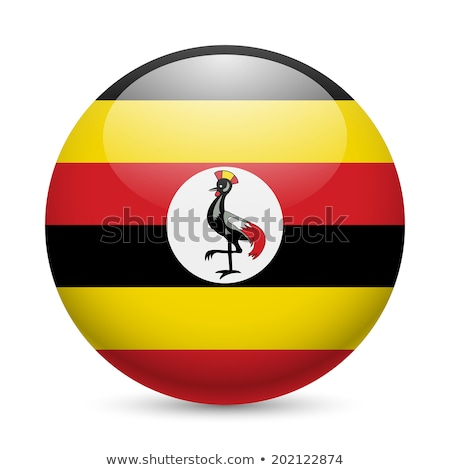 Gomb Uganda térkép zászló vidék politika Stock fotó © Ustofre9