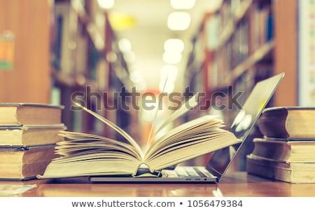 Leren programma boek boeken tabel een Stockfoto © maxmitzu