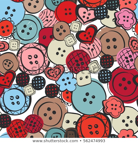 Bright sewing buttons on gray fabric Stock photo © tetkoren