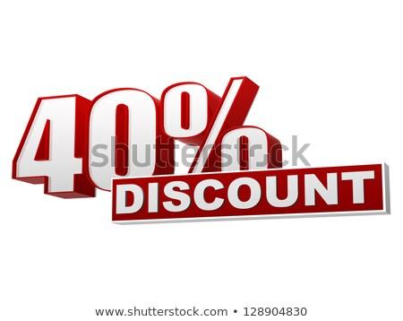 40 pourcentages vente 3D lettres texte Photo stock © marinini