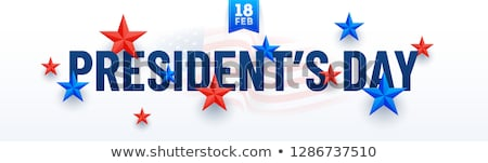 President Day in United States of America with colorful header a Stock photo © bharat