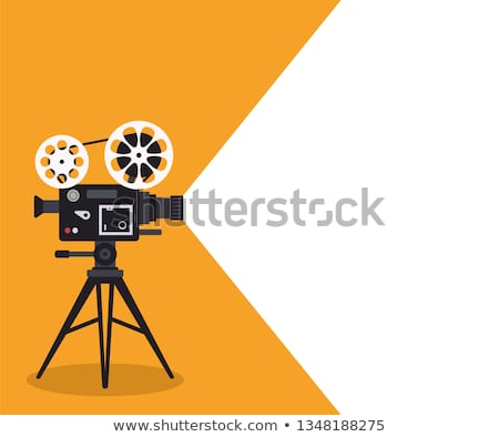 Bioscoop camera film cinematografie film scherm Stockfoto © 5xinc