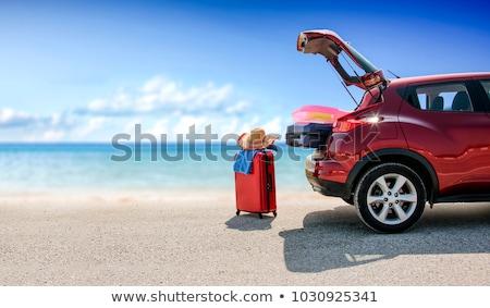 été voiture voyage femme jambes bleu Photo stock © Yaruta