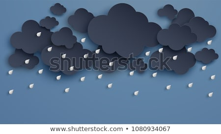Tempestade nuvem cor ameaçador Foto stock © janhyrman