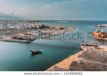 Oman afbeelding zee bergen huizen Stockfoto © w20er