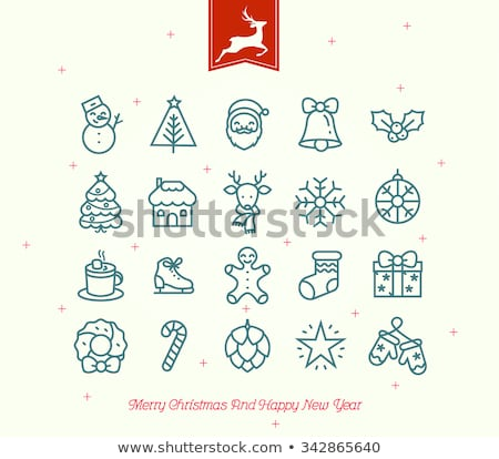Noël icône circulaire vecteur Photo stock © Porteador