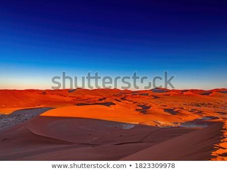 Namibya çöl Afrika dağ mavi panorama Stok fotoğraf © imagex