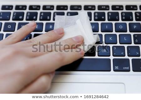 Közelkép fehér billentyűzet világszerte háló email Stock fotó © jenbray
