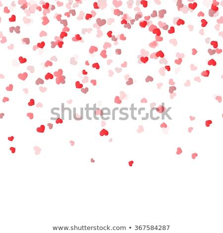 бесшовный сердцах текстуры аннотация дизайна красный Сток-фото © elenapro