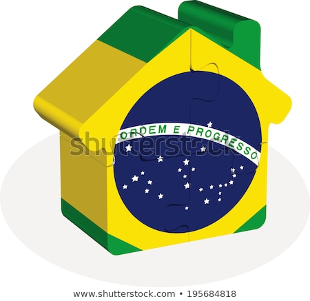 house home icon with Brazil flag in puzzle Stock photo © Istanbul2009