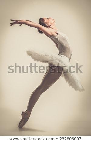 genç · balerin · dansçı · pembe · elbise - stok fotoğraf © nejron