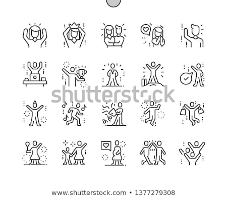 Simple People - Victorious Stock photo © nazlisart