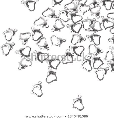 background seamless placer precious stones on white stock photo © yurkina