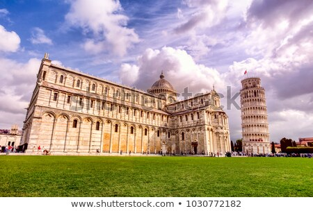Pisa tower and cathedral on Piazza del Duomo Stock photo © pixachi