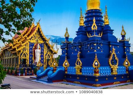 Tailandés arte escultura pared templo Tailandia Foto stock © nalinratphi