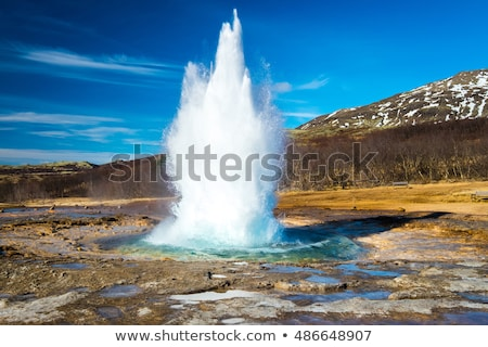 アイスランド 間欠泉 有名な 観光地 ランドマーク ストックフォト © Maridav