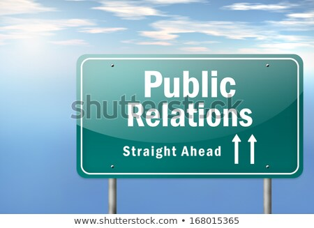 Сток-фото: Public Relations On Highway Signpost