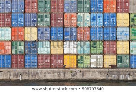 almacén · muchos · panorámica · vista · camiones - foto stock © tashatuvango